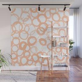 Watercolor Circle Peach Wall Mural