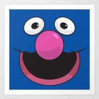 sesame street Art Prints featuring Sesame Street Grover by Jconner
