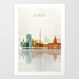 Dublin skyline Art Print