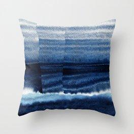 Blue Escape Watercolor Throw Pillow