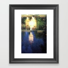 double reflection Framed Art Print