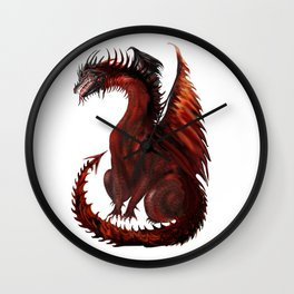 Dragon Abstract Challenger Wall Clock