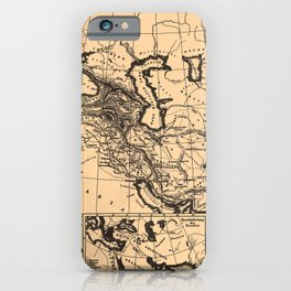 Iconographic Encyclopedia of Science, Literature and Art (1851) - Empire of Alexander the Great iPhone Case