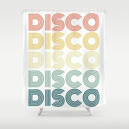 Disco Themed, Funky Vintage 70s 80s Tee For Dance Parties T-Shirt Shower Curtain