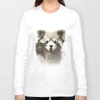 red panda Long Sleeve T-shirts featuring Red Panda by Rafapasta
