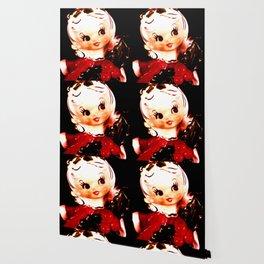 Red Christmas Girl Wallpaper