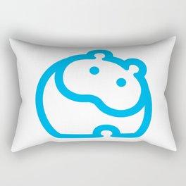 Blue hippo Rectangular Pillow