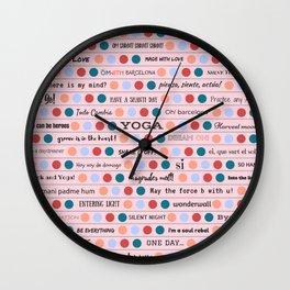 Inspiring Words Pink Wall Clock