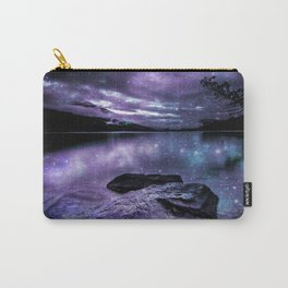 Magical Mountain Lake Purple Teal Carry-All Pouch