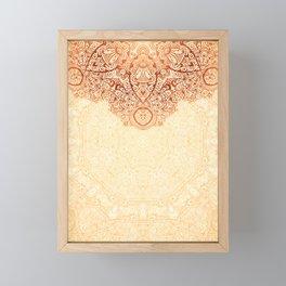 Elegance Ornate Mehndi Mandala v.1 Framed Mini Art Print