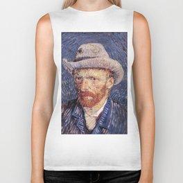 Self-Portrait with Grey Felt Hat by Vincent van Gogh Biker Tank