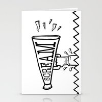 scream Stationery Cards featuring SCREAM by Andrea Vietti