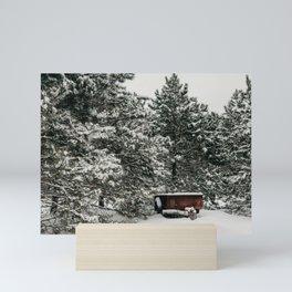 Snowy Trailer | Nature Photography Mini Art Print
