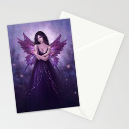 Mirabella Purple Butterfly Fairy Stationery Cards