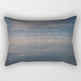 The Opposite Direction Rectangular Pillow