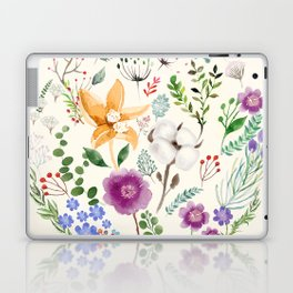 Winter Flowers Laptop & iPad Skin