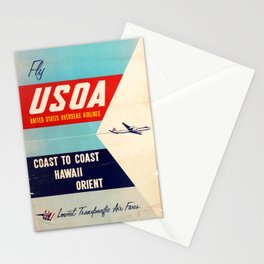 Nostalgia United States Overseas Airlines USOA Hawaii Orient Stationery Cards