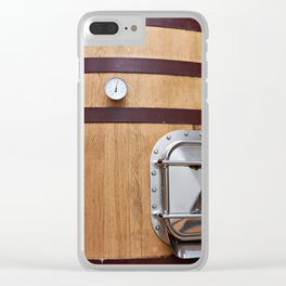 Wooden tank barrel for wine Clear iPhone Case