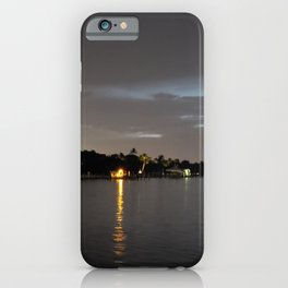 Nighttime on the St Lucie River iPhone Case
