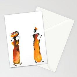 Malaika and Zeita dressing fire flames Stationery Cards