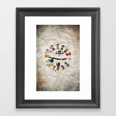 Dancing Circle Deejay Framed Art Print