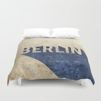 berlin Duvet Covers featuring Berlin by Barbo's Art
