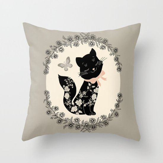 SophistiCat Throw Pillow