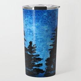 Blue Sky - Evergreen Trees Travel Mug