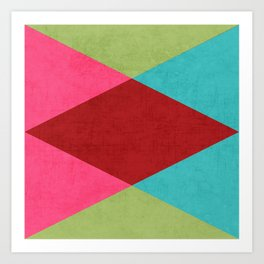holiday triangles Art Print