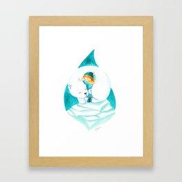 Polar hug Framed Art Print