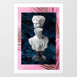 Bust glitch Art Print