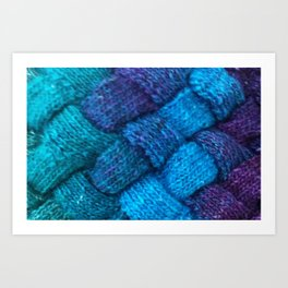Blue Entrelac Art Print