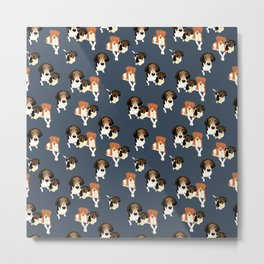 Henry, Daisy and Dory Pattern Metal Print