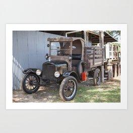 Old Form of Livestock Transport Art Print