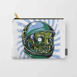 Astronaut Zombie Scary Face - I WAS TAKEN BY ALIENS Carry-All Pouch