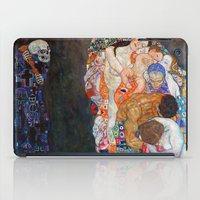 gustav klimt iPad Cases featuring Death and Life by Gustav Klimt by cvrcak