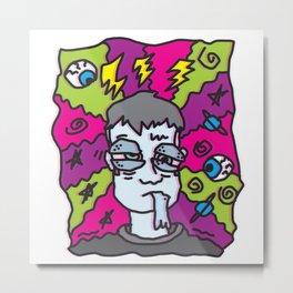 MIGRAINE (SELF-PORTRAIT OF THE ARTIST WITH A MIGRAINE) Metal Print