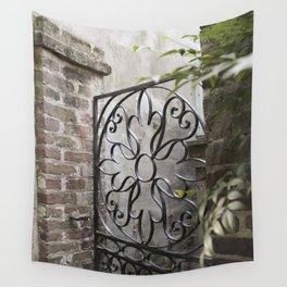 Charleston Back Garden Gate Wall Tapestry