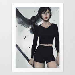 Two Hawks Art Print