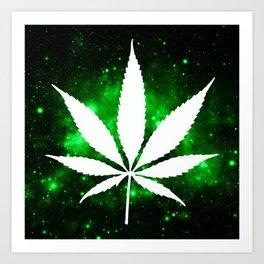 Weed : High Times Green Galaxy Art Print