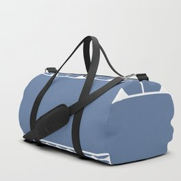 Decorative Cool Blue and White Pattern Design Duffle Bag