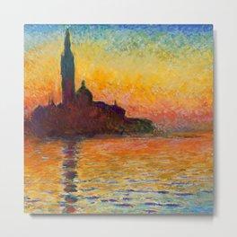 "Claude Monet ""San Giorgio Maggiore at Dusk"" Metal Print"