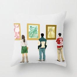 Ferris Bueller at the Art Museum Throw Pillow