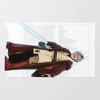 jedi Area & Throw Rugs featuring Old jedi  by Akyanyme