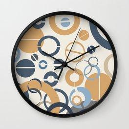 Abstract Circles Design Wall Clock