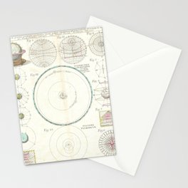 Astronomical Instruments and Diagrams (1753) Stationery Cards