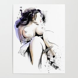 Shibari - Japanese BDSM Art Painting #13 Poster