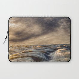 Where The River Kisses The Sea Laptop Sleeve