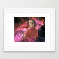 sagan Framed Art Prints featuring Carl Sagan  by Madison Gremillion