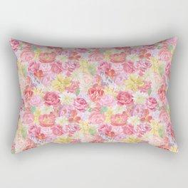 Lush Floral Rectangular Pillow